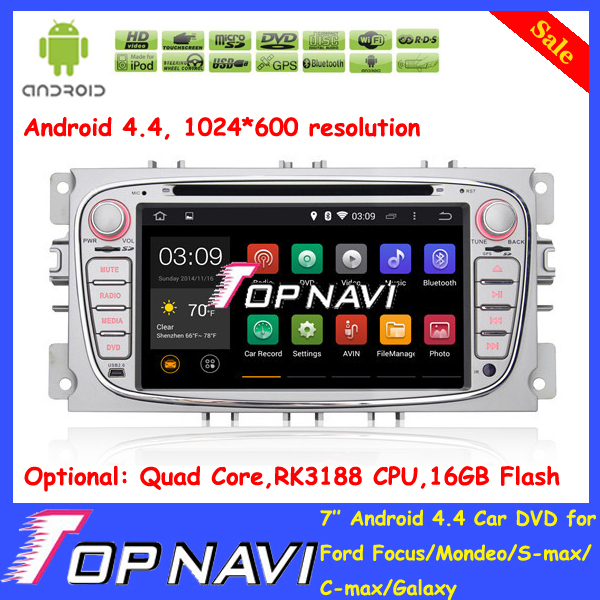 Gift DHL Free Shipping Pure Android 4.4 Car Navigation DVD for Focus/Mondeo/S-max/C-max/Galaxy with GPS 3G Wifi Map Radio(China (Mainland))