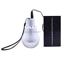 Outdoor/Indoor Solar Power 12pcs LED Lighting System Light Lamp 1 Bulb solar panel Low-power camp nightfair travel used 5-6hours
