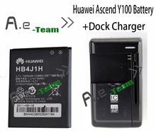 Лот = 1 шт. стол док зарядное устройство + 1 шт. Huawei Ascend Y100 аккумулятор батарея HB4J1H 1200 мАч резервный аккумулятор для Huawei Ascend Y100 U8185