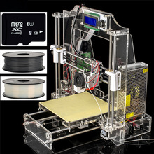 Upgraded LCD High Precision Reprap Prusa i3 DIY 3d Printer kit with 2 Rolls Filament Melzi Mainboard Marlin Firmware 8GB SD card
