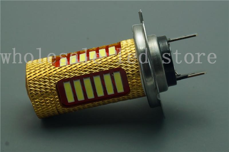 Free Shipping!! 2Pieces/lot New H7 7014 27SMD Led Fog Light Fog Lamp 12V Fog Beam For Car Headlight DRL Daytime Light