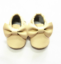 New Hot Cute Bow Baby Boys Girls Toddler Soft Sole Infant Kids Moccasins Shoes 0-36M(China (Mainland))