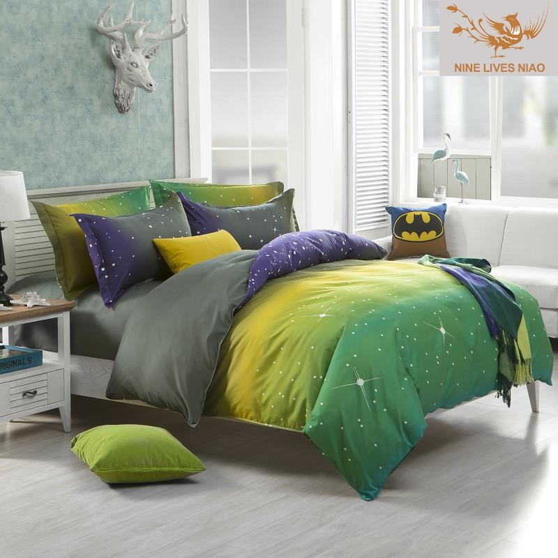 Spring and Summer Queen Polyester Fiber Bedding Sets, Duvet Cover and Bedsheet Reactive Printed Brief Style Cheap Comfort Set(China (Mainland))