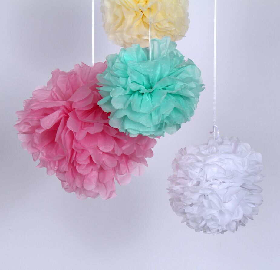 aliexpress buy 30 mixed size tissue paper decoration hanging pom poms wedding birthday