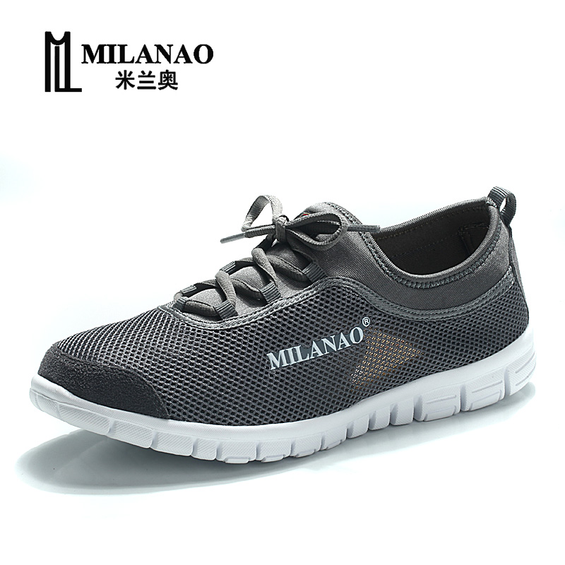 MILANAO 2016 breathable running shoes,super light sneakers comfortable men athletic shoes, men's brand sport running shoes(China (Mainland))