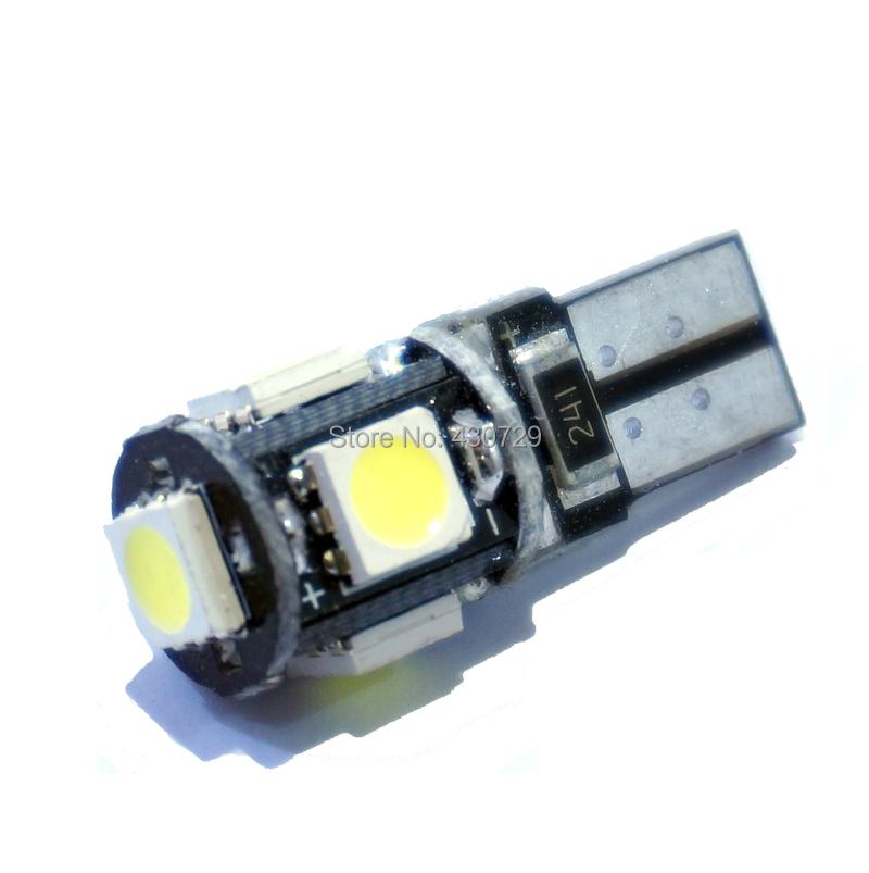 10pcs lot T10 5 smd 5050 led Canbus Error Free Car Lights W5W 194 5SMD LIGHT