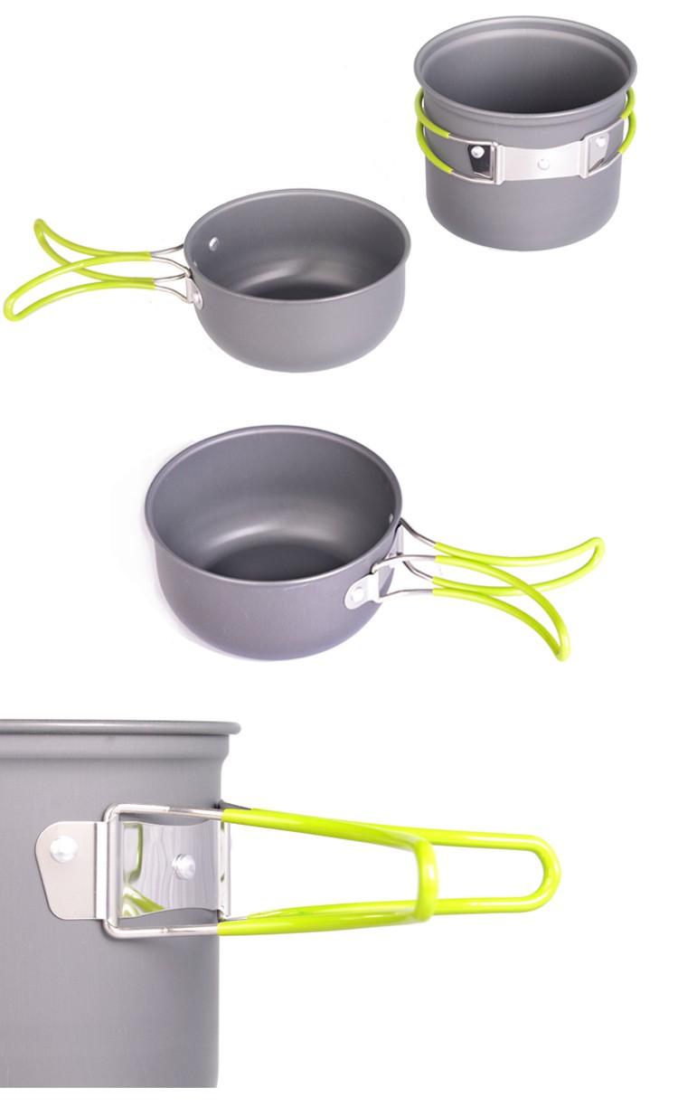 Bol plegable cantimplora militar camping dishes titanium pot utensils for a picnic travel tableware camping cookware (8)