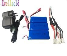 Buy X8C X8W X8G X8HC X8HW X8HG 899 RC quadcopter 7.4V 2000mAh Li-polymer battery 3pcs wall charger for $32.11 in AliExpress store