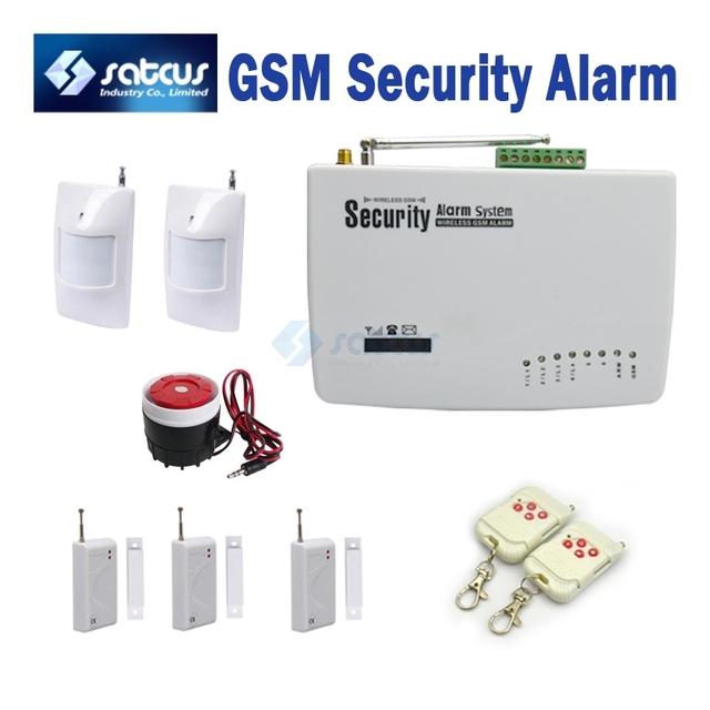 Voice Prompt ~ Wireless Home Intelligent Burglar GSM Alarm System Security Home Alarm 900/1800/1900Mhz  SG-122