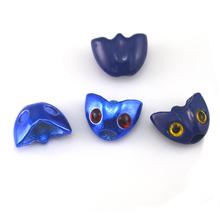 6Pcs / Lot Royal Blue & Blue Fish Skull Sculpin Helmet Heads Fly Tying DIY Material