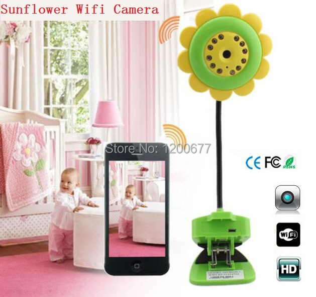 Wifi baby monitor Flower IP camera video babysitter Nightvision baba eletronica baby monitor support IOS/Android smartphone ipad(China (Mainland))