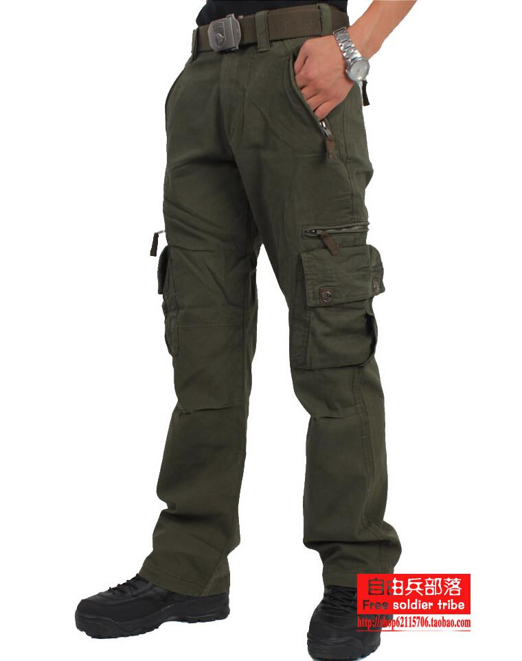 THUNDER IX9 Tactical Cargo Pants Men Casual SWAT Force Training Multi-pockets Trousers Overalls Cotton Sports Military Army Pant(China (Mainland))