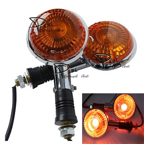 Motorcycle Turn Signal Indicator 12V Custom Bike Blinker Light Yamaha V-Star Drag Star XV400 Virago V-MAX 1200 Year - Lotus Warehouse store