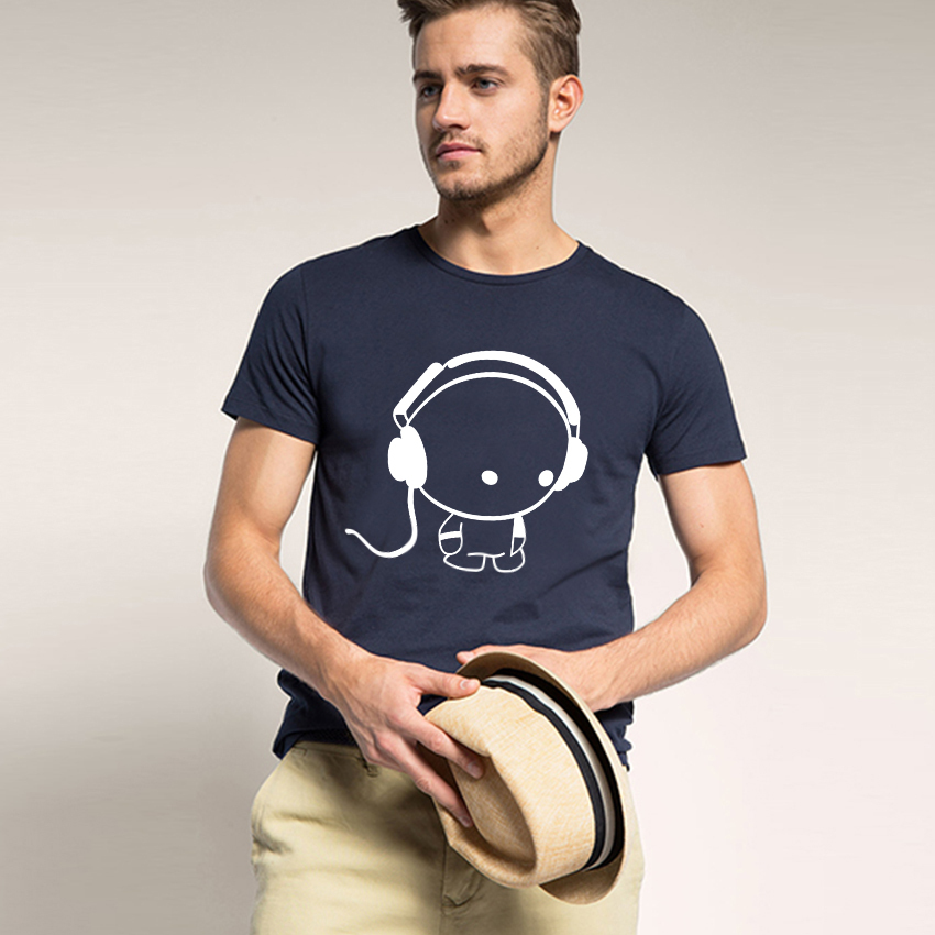 Fashion Mens Cool Micphone Music T Shirts Stylish Summer Shorts Sleeves Funny Cartoon t-shirt Hip Hop - Free Zone Trend store