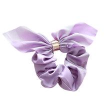1X бант в виде кроличьих ушек волос Scrunchies резинка для волос милый сладкий талисманы хвост держатели темно розовый печати эластичные Hairbands(China)