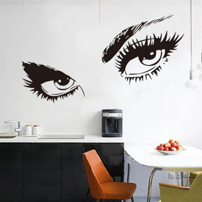 From Seword Wall Art Vinyl Lettering Home Decor ~ Large wall stickers decals sexy eyes sticker home
