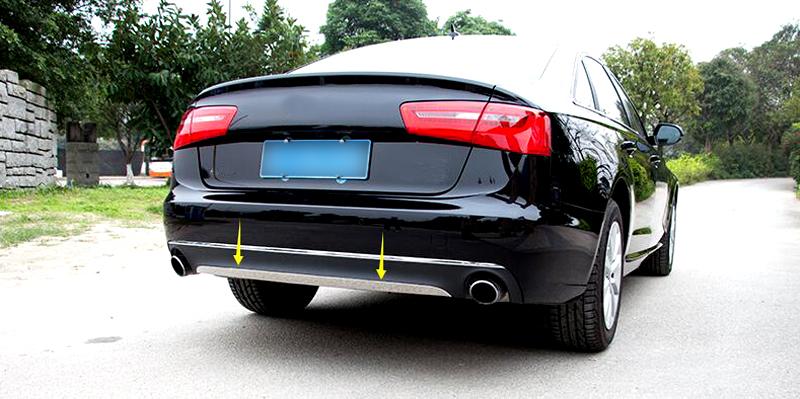 Здесь можно купить  Car Rear Bumper Cover Trim Stainless Steel For Audi A6 C7 2012 2013 2014 2015  Автомобили и Мотоциклы