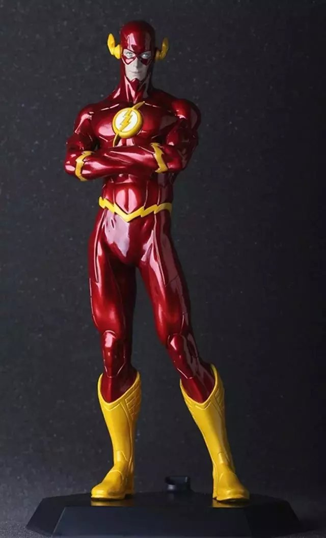 Great Quality!!! DC Hero The Flash 40cm PVC Action Figure Toys Gifts Model Collection(China (Mainland))