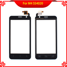 100% Original Touch Screen For M4 SS4020 S4020 4020 Free Tools Black color Mobile Phone Touch Panel