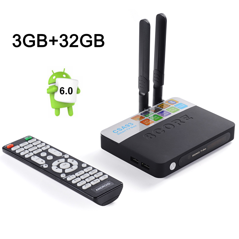Best CSA93 Amlogic S912 Octa Core Android 6.0 TV Box RAM 3GB ROM 32GB 2.4G&5.8G Dual WIFI BT4.0 HDMI 2.0 H.265 4K Media Player(China (Mainland))