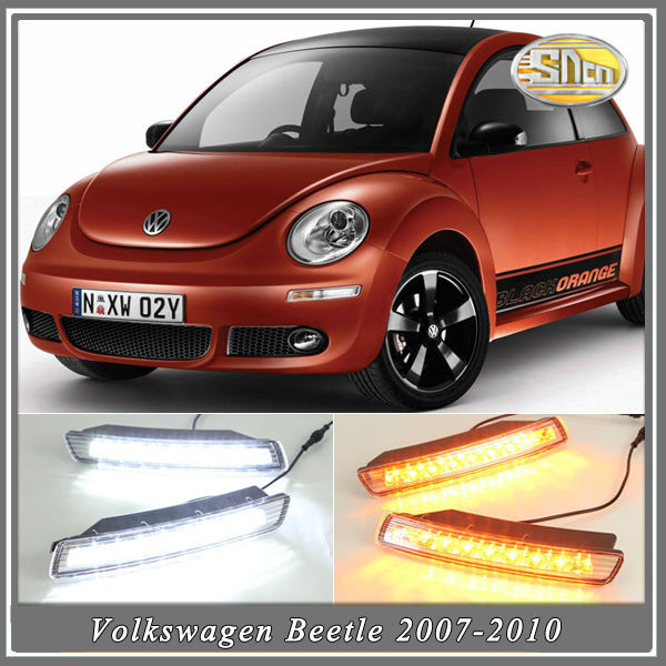 With Yellow Turning Function!!! LED Daytime Running light,LED DRL For Volkswagen Beetle 2007 2008 2009 2010,Free Shipping!(China (Mainland))