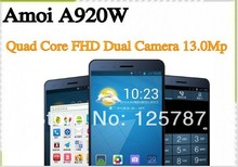 Original Amoi A920W 5 Inch MTK6589T Quad Core Android 4.2 IPS 1920X1080 2GB/32GB 13MP Dual Camera Dual Sim 3G Smart Phone(China (Mainland))