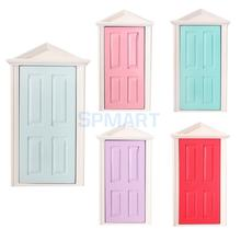 1:12 Scale Wooden Fairy Steepletop Door Dollhouse Miniature Accessory(China (Mainland))