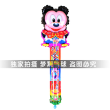 Free shipping 20pcs/set mickey mouse bangbang cheer stick balloon inflatable figures