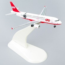 Collectible Airplane Models 1:500 Model Airplanes StarJets 1/500 Diecast Aircraft Model LTU AIRBUS A320 With Original Box(China (Mainland))