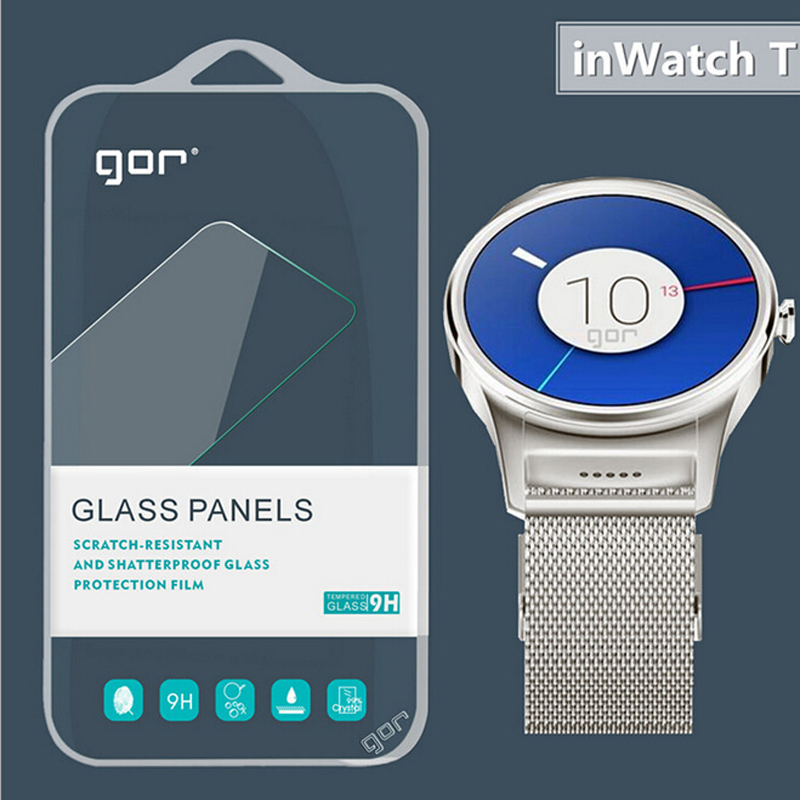 Original GOR Tempered Glass Screen Protector for Inwatch T Watch Wristwatch Free Shipping 2pcs/set(China (Mainland))