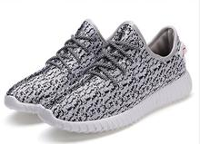 2016 Fashion Summer Men And Women Shoes Air mesh Flat with casual shoes Flat with Breathable Plus yeezy(China (Mainland))
