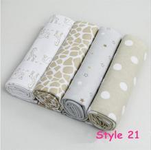 4pcs/lot newborn bed sheet blankets 76x76cm baby bedding 100% cotton set for newborn super soft crib cheap linen cot boy girl(China (Mainland))