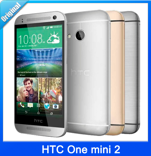 "Original HTC One mini 2 Quad-Core 13.0MP 4.5""TouchScreen LTE 16GB Unlocked Refurbished Phone Free Shipping(China (Mainland))"