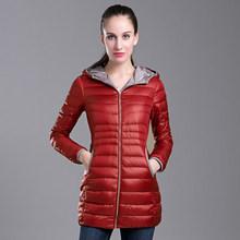 2015 New Hot Winter Thicken Warm Woman Down jacket Coat Parkas Outerwear Hooded Leisure Slim Mid Long Plus Size 3XXXL Black