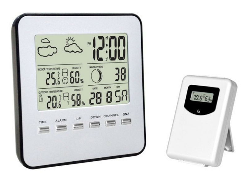 Wireless Digital Electronics Weather station indoor outdoor temperature humidity Sensor - Cowin store