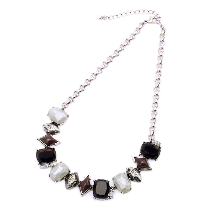 Current Club Ms Cool Retro Plated  Silver Pendant  Necklace Retail Wholesale Sexy Clothing Accessories(China (Mainland))
