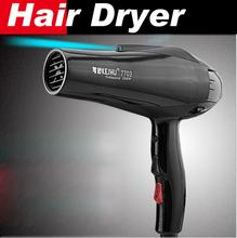 Styling tools Hair dryer Black professional blow dryer Hot and cold wind 2100W Nano titanium 2.4M + 2 free nozzles hairdryer()