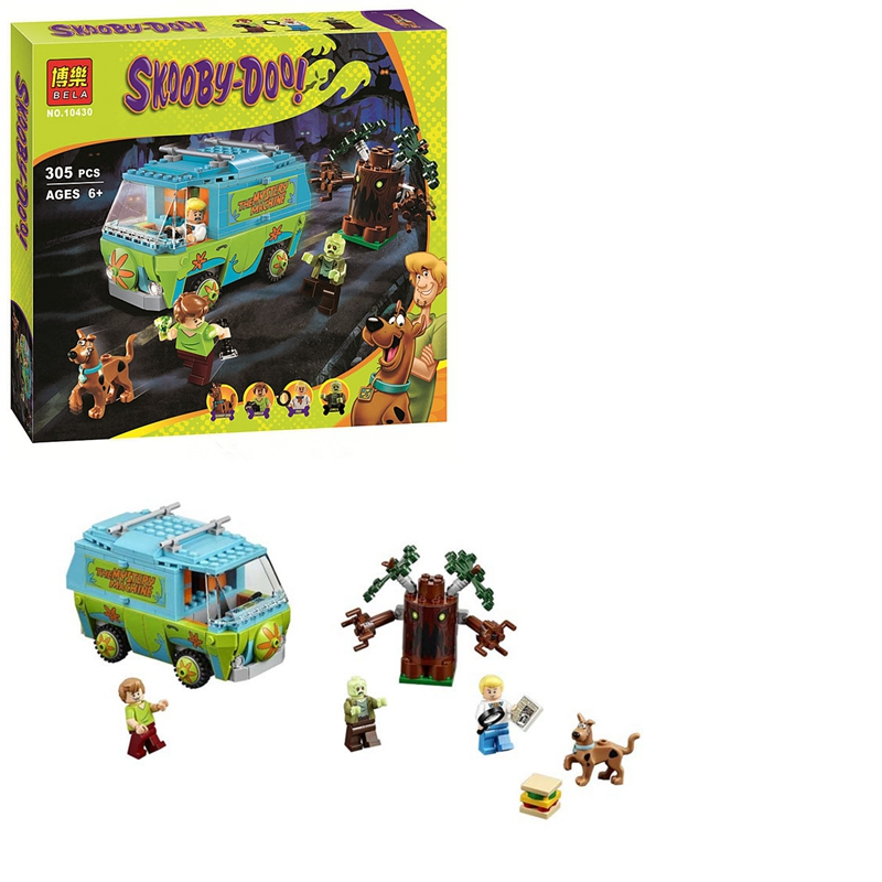 Scooby Doo DOG Mystery Machine Bus Minifigures Building Block Minifigure Toys Compatible with Legoelieds(China (Mainland))