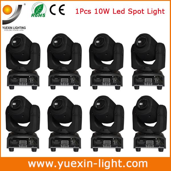 Freeshipping 8/lot Newest 10W Colorful LED Super Beam Moving Head Light For Disco Nightclub DJ Bar Gobo Beam led stage light(China (Mainland))