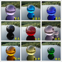 ASIAN QUARTZ colourful Crystal glass Ball Sphere 30mm  white,black,red,green,purple,blue colour.