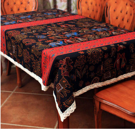 Lace tablecloths linen table cover table cloth rectangular - Nappe table rectangulaire ...