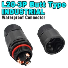 Buy L20 3PIN Screw Butt Waterproof cable Connector Screw locking Industrial Electrical Wire Connector Adapter PCB LED Type IP 67 for $3.00 in AliExpress store