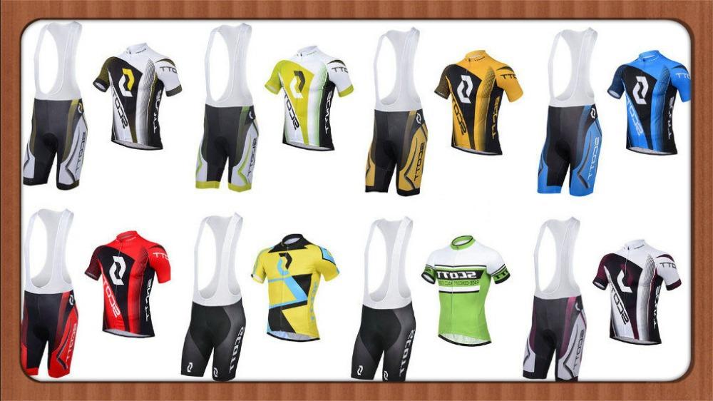 Free Shipping 8 styles Summer Cycling Clothing 2013-2014 Scoot Black White Yellow Cycling Wear Bike Jersey And Shorts Set(China (Mainland))