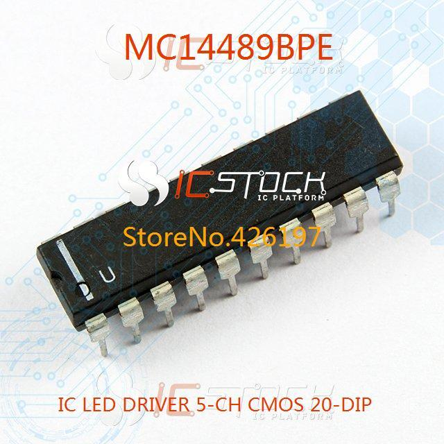 Free Shipping MC14489BPE IC LED DRIVER 5-CH CMOS 20-DIP 14489 MC14489 3PCS(China (Mainland))