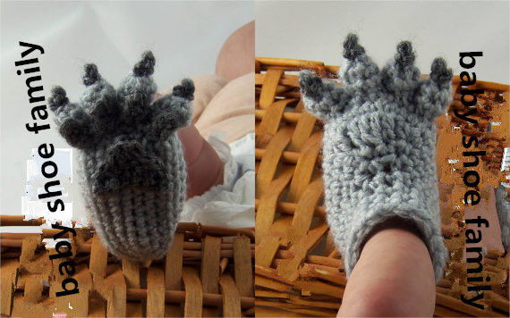 Wolf Paw Baby Booties - 5 Sizes Made Order