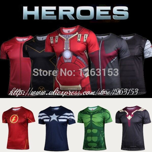 Men T Shirt Fashion Short Sleeve Spiderman Superman Venom Captain America Batman Iron Mans T-Shirt Men Women Clothing Drop Ship(China (Mainland))
