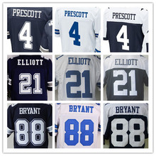 Lower Price men's jersey,Elite 4 Prescott 21 Elliott 9 Romo 22 Smith 50 Lee 82 Witten 88 Bryant jersey,Size M-XXXL(China (Mainland))