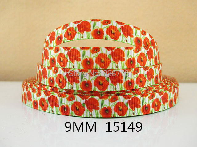 10Y15149 free shipping 3/8 '' printed ribbon Grosgrain ribbon whole sale and OEM diy headwear garment accessories(China (Mainland))
