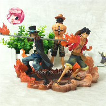 One Piece Figure Japanese Anime Figure Ace Luffy Sabo DXF One Piece Action Figure Pvc Cartoon Figurine One Piece Toys Juguetes