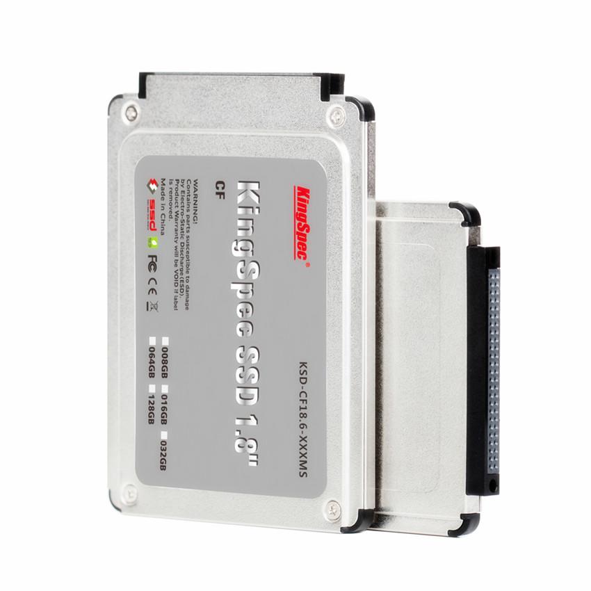 KSD-CF18.6-064MS Kingspec CF SSD 1.8'' IDE Flash CF SSD 64GB IDE 50PIN FIT FOR SONY U8C TOSHIBA R100 R200 DELL X1(China (Mainland))